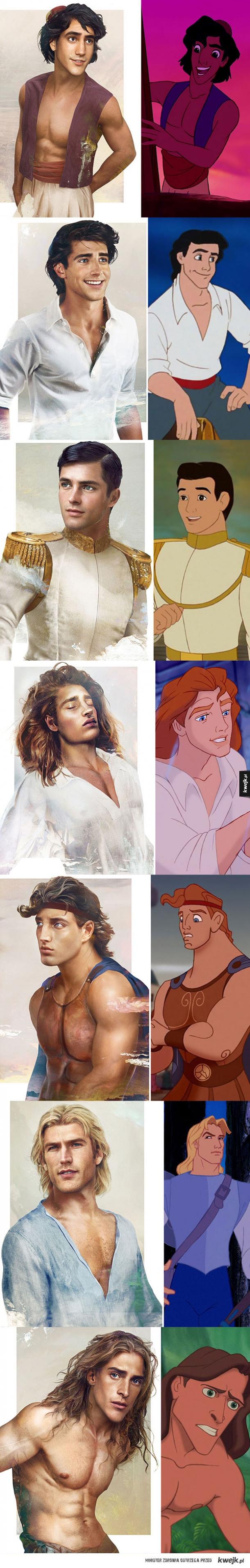 Panowie z bajek Disneya jak żywi