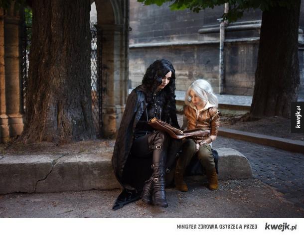 Yennefer i Ciri - cosplay