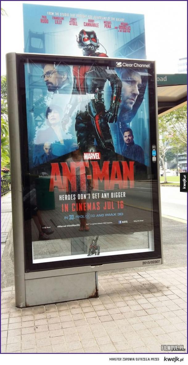 Kreatywny plakat Ant-Mana