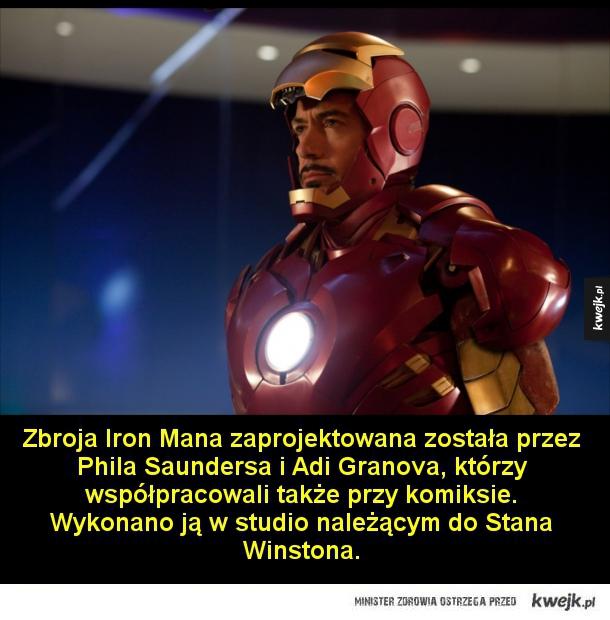 W pierwszym Iron Manie większość dialogów była improwizowana w trakcie kręcenia.  Dzięki filmom z Iron Manem Robert Downey Jr. stał się jednym z najlepiej zarabiających aktorów w Hollywood. Aktor wrócił na szczyt w momencie, gdy jego kariera wydawała się j