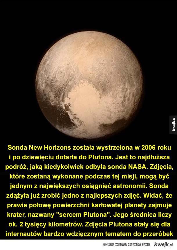 Pluton oczami internautów - Sonda New Horizons została wystrzelona w 2006 roku i po dziewięciu dotarła do Plutona. Jest to najdłuższa podróż, jaką kiedykolwiek odbyła sonda NASA. Zdjęcia, które zostaną wykonane podczas tej misji, mogą być jednym z największych osiągnięć astronomii. S