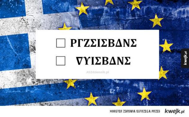 Greckie referendum...