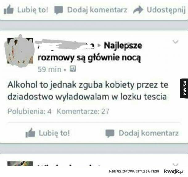 Alkohol to zguba kobiety