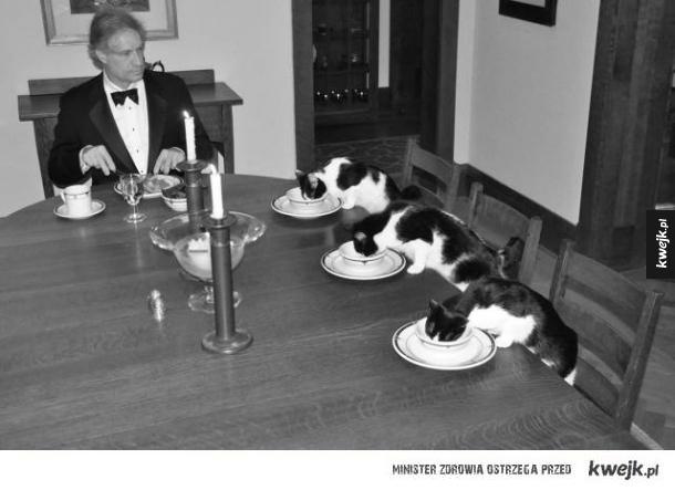 Obiad silnego i niezależnego dżentelmena