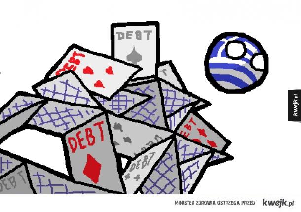 Grecja i jej domek z kart...
