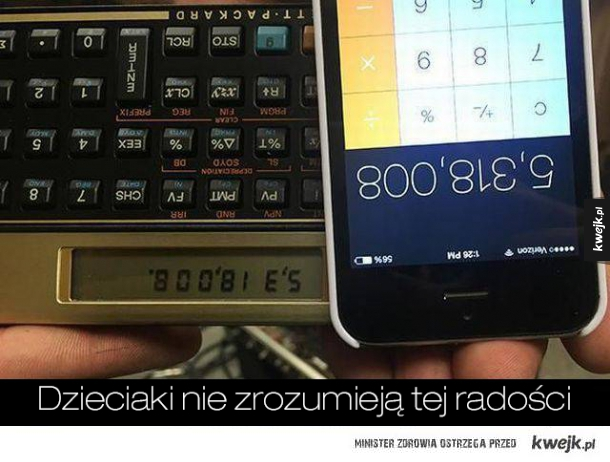 pisanie na kalkulatorze