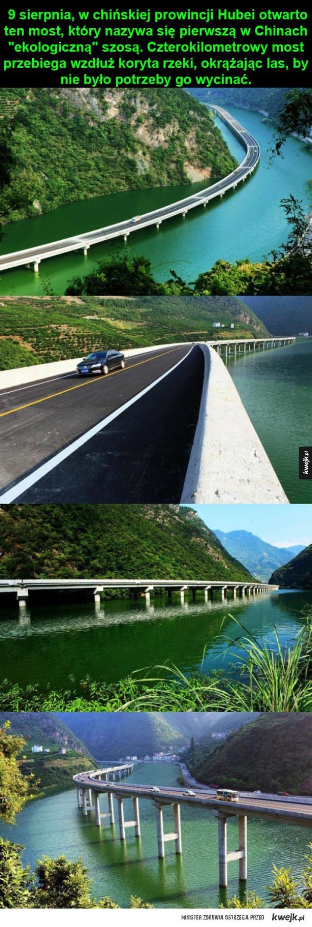 W Chinach wybudowano most-szosę wzdłuż rzek
