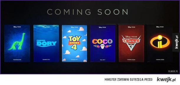Nadchodzące filmy Pixara