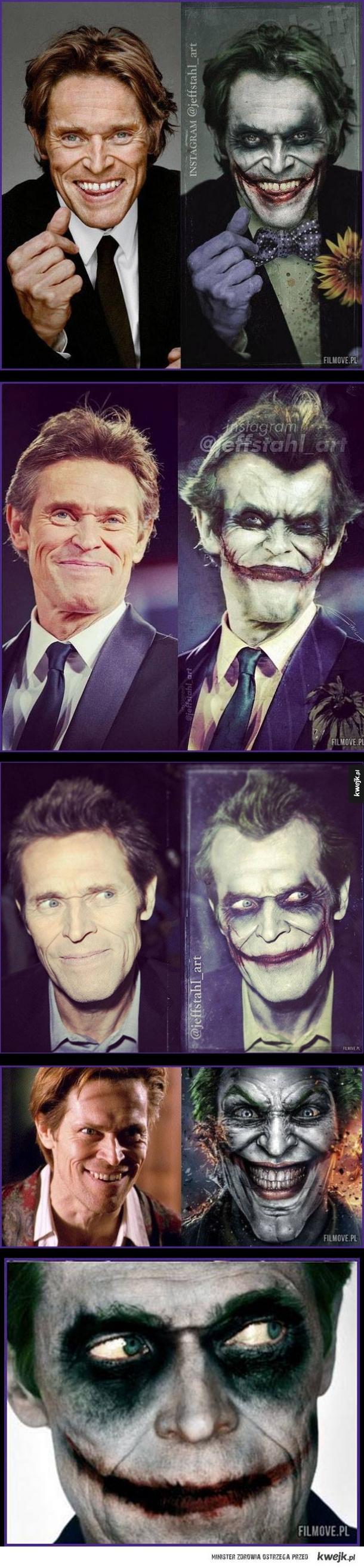 Kilka dowodów na to, że Willem Dafoe byłby świetnym Jokerem.