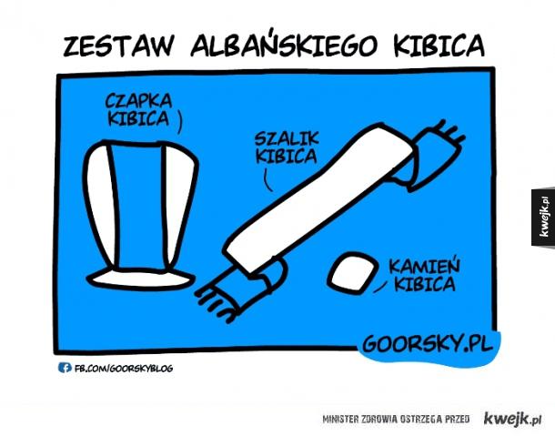 Zestaw albańskiego kibica