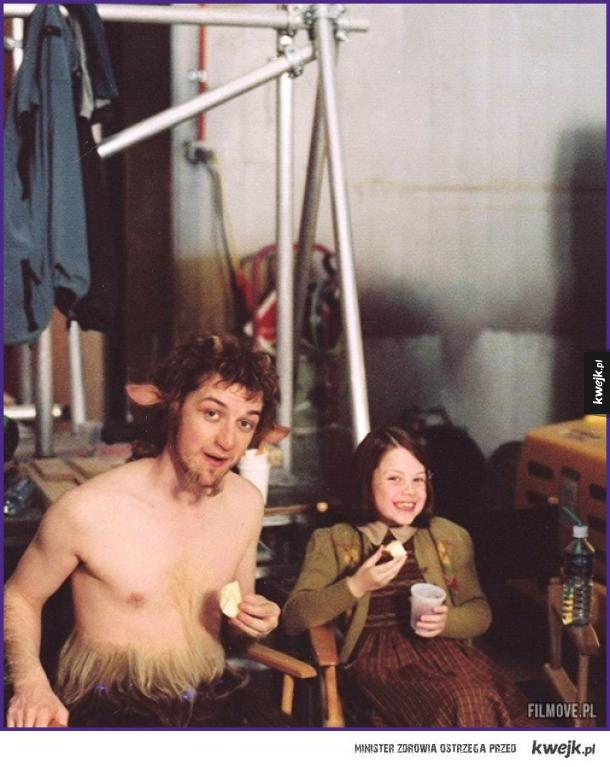 "James McAvoy i Georgie Henley na planie ""Narni"" 10 lat temu"