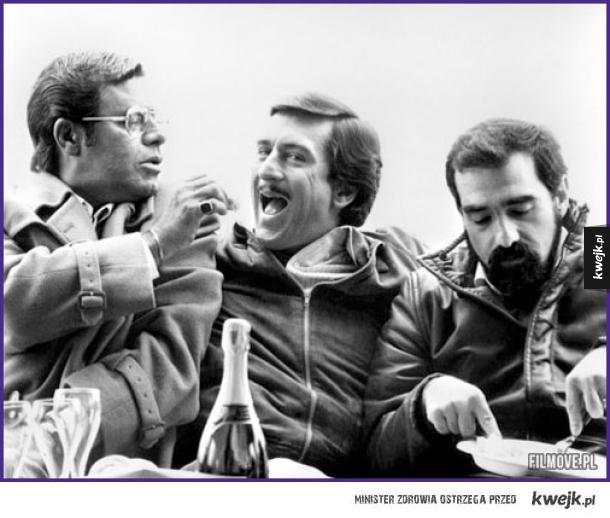 Martin Scorsese, Robert de Niro i Jerry Lewis na planie Króla Komedii (1982)