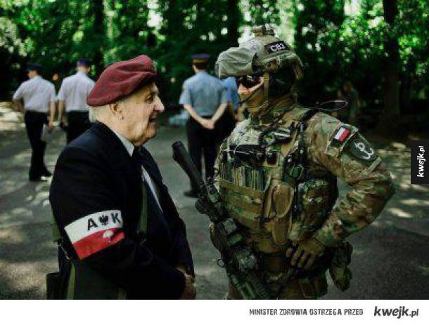 Stary i młody żołnierz
