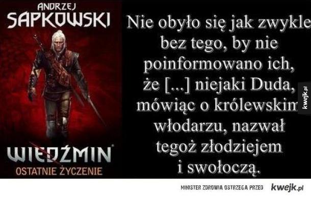 Andrzej Sapkowski powinien zostąpić Wróżbitę Macieja