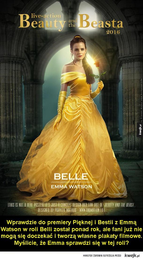 Emma Watson w Pięknej i Bestii
