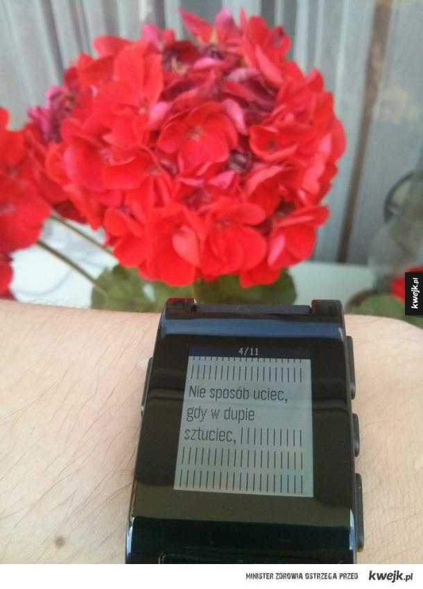 poezja smartwatcha