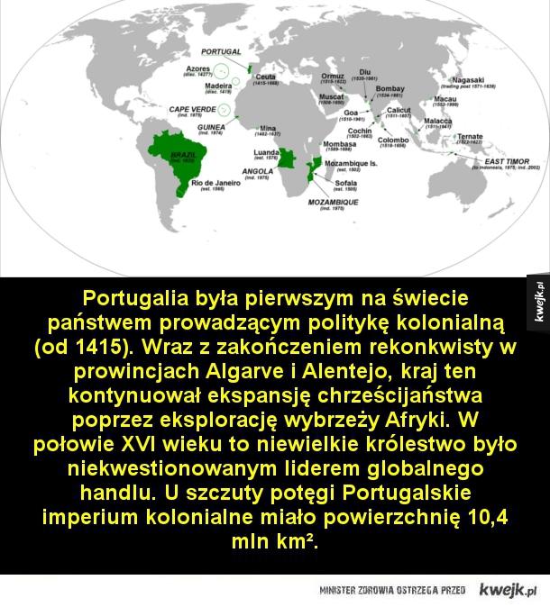 Największe terytorialnie imperia w historii - Imperium brytyjskie rozwinęło się z kolonii i placówek handlowych zakładanych przez Anglię pomiędzy końcem XVI a początkiem XVIII wieku. U szczytu swojej potęgi było największym imperium w historii świata i przez ponad stulecie było jedynym supermocarstwem