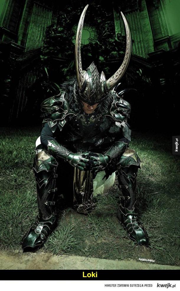 Imponujące zbroje cosplayowe - loki, darth vader, loki, iron man, joker