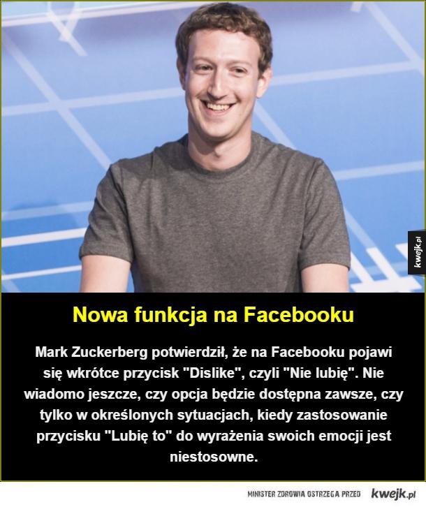 Przydatna funkcja - Nowa funkcja na Facebooku. Mark Zuckerberg potwierdził, że na Facebooku pojawi się wkrótce przycisk