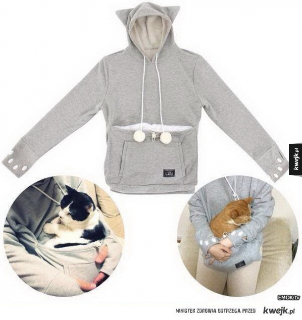 Bluza z miejscem na kota