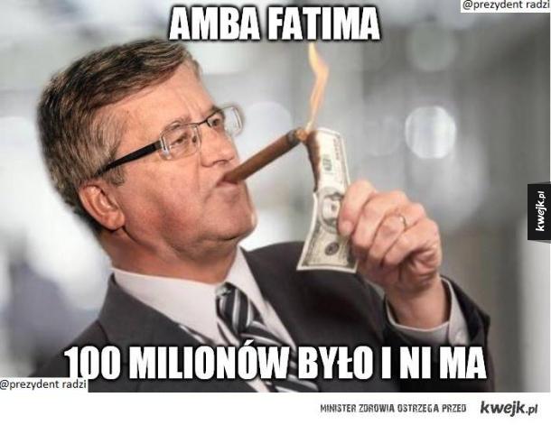 I 100 milionów poszło..