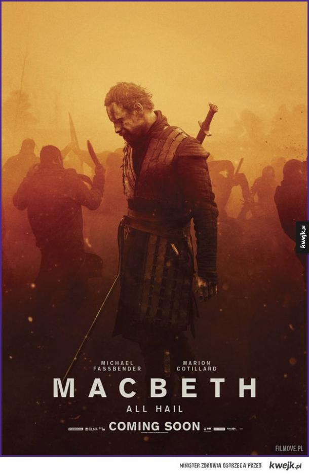 Świetny plakat do ekranizacji Makbeta