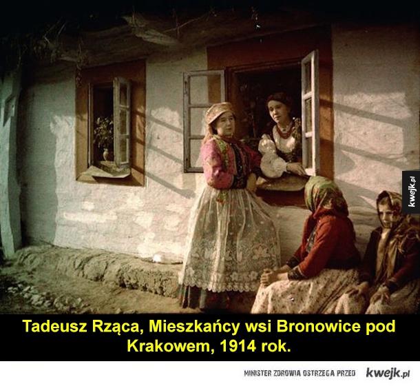 Pierwsze kolorowe fotografie z Polski