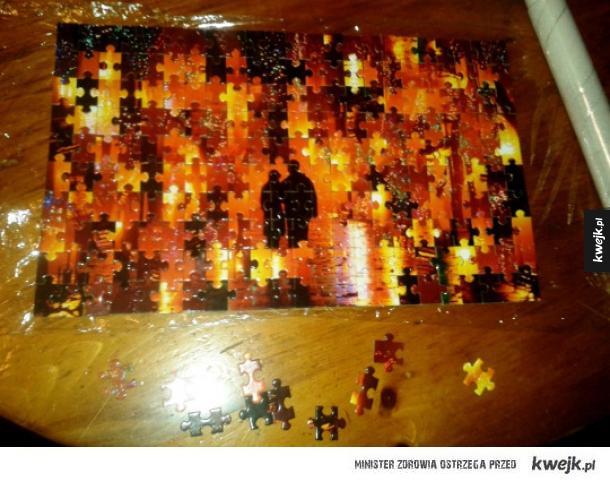 Gdy układasz puzzle po pijaku...