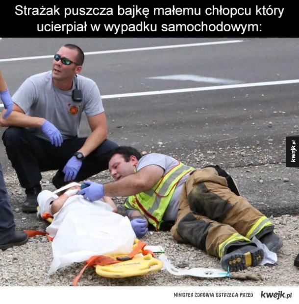 Dobry ziomek strażak