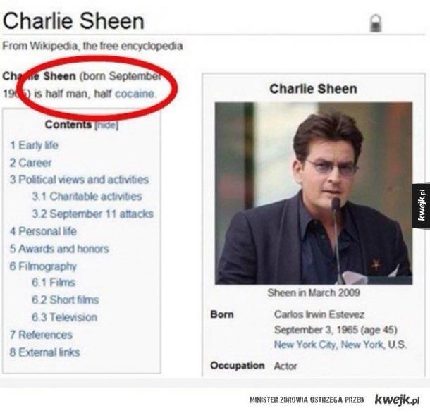 Definicja Charliego Sheena