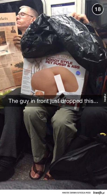 Przypał w metrze :D
