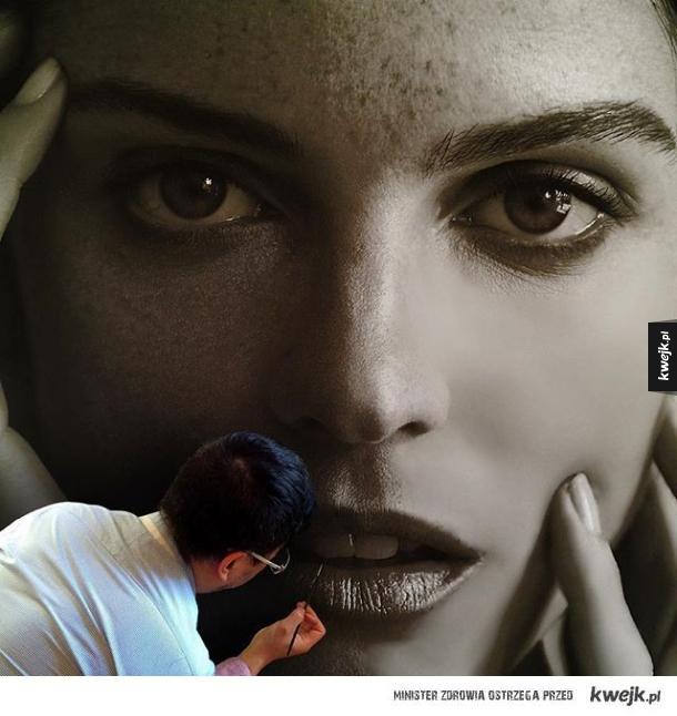 Fotorealistyczne obrazy malarza Hirothropologie
