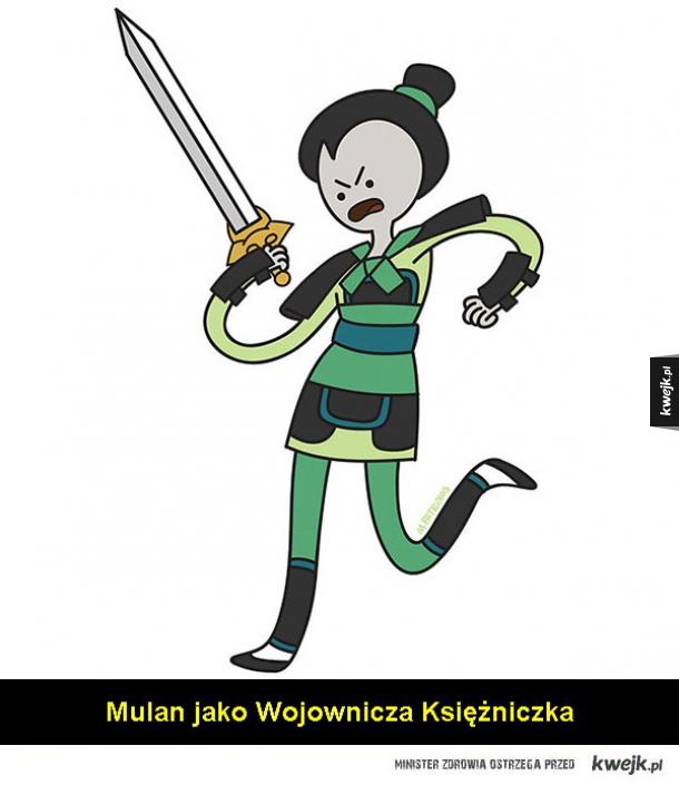 Księżniczki Disneya jak bohaterki Adventure Time