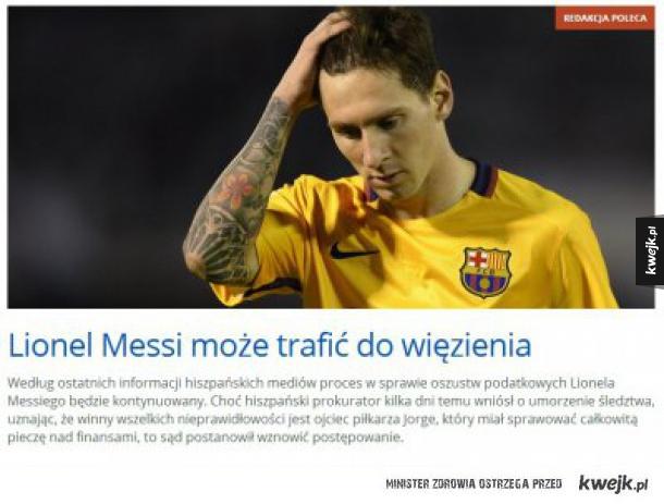 Messi w drużynie zakładu karnego w Hiszpanii