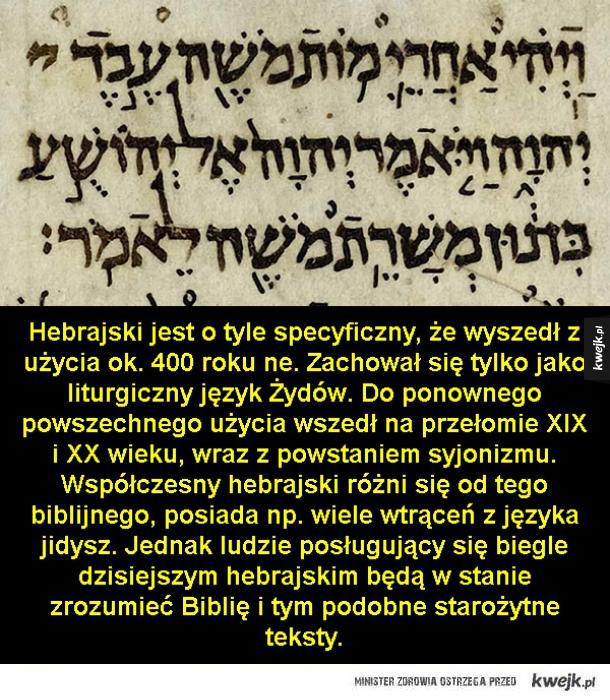 Najstarsze języki używane do dziś