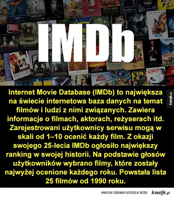 Najlepsze filmy ostatnich 25 lat wg internautów - incepcja, władca pierścieni, memento, film, fargo, batman, wściekłe psy, infiltracja, szeregowiec ryan