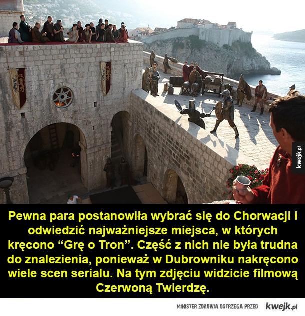 """Wycieczka do Chorwacji śladami """"Gry o Tron"""" - Pewna para postanowiła wybrać się do Chorwacji i odwiedzić najważniejsze miejsca, w których kręcono"""
