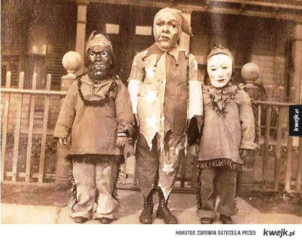 Stare kostiumy halloweenowe, które potrafią przyprawić o gęsią skórkę