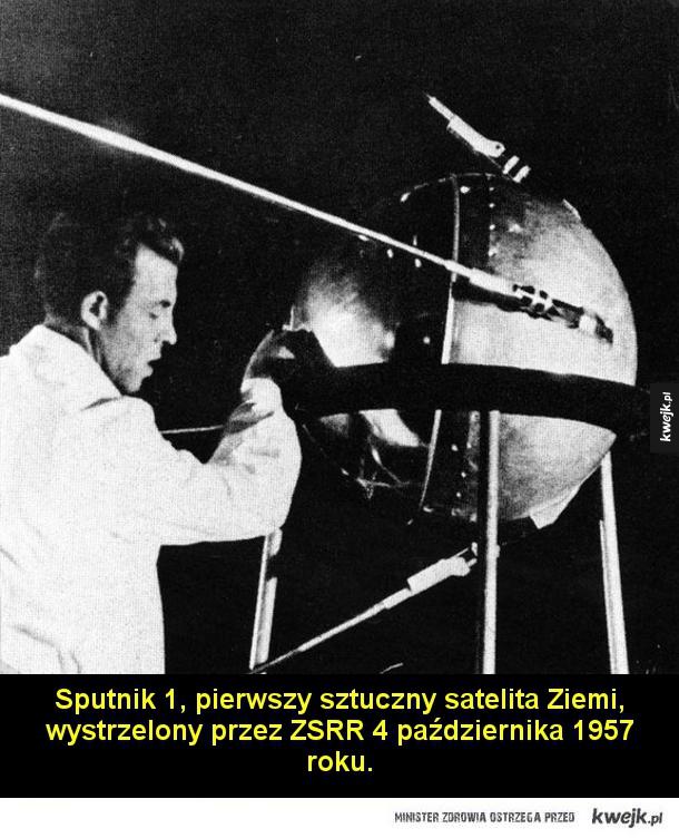 Słynne zdjęcia ukazujące historię eksploracji kosmosu - Zdjęcie Ziemi wykonane 23 sierpnia 1966 roku przez sondę Lunar Orbiter 1  Jurij Gagarin, radziecki kosmonauta, pierwszy człowiek w przestrzeni kosmicznej w czasie słynnego lotu 12 kwietnia 1961 roku.  Alan Shepard, pierwszy Amerykanin w przestrzeni kosmicz
