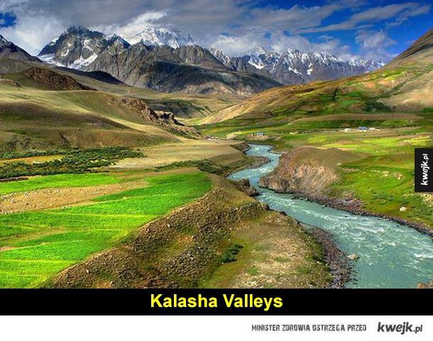 pakistan, karakorum, góra, dolina, rzeka, jezioro