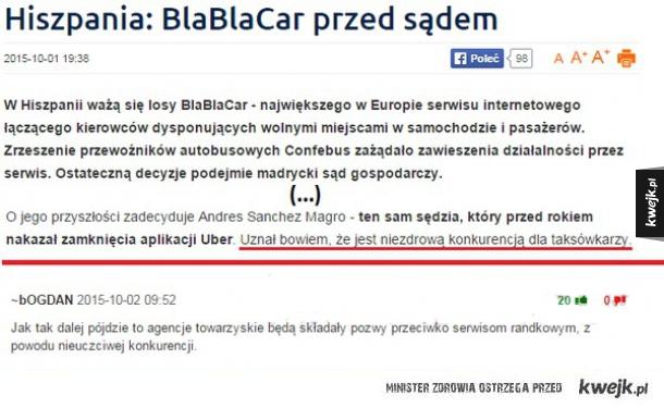 BlaBlaCar przed sądem