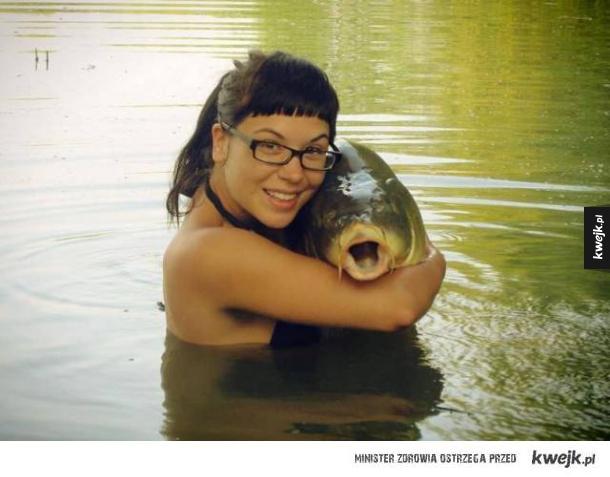 romantyczna fotka z rybą