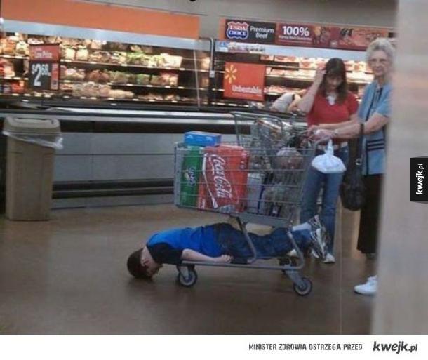 Nigdy nie zabieraj dzieci na zakupy