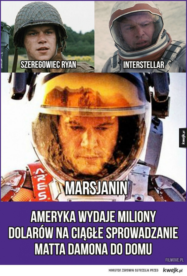 Matt Damon nie zna umiaru