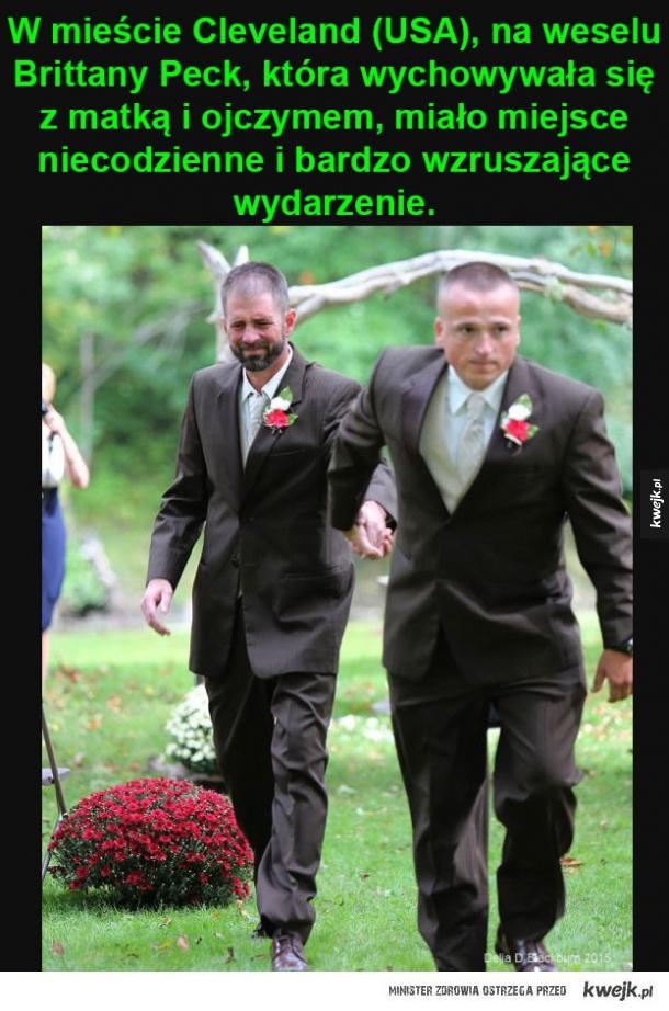 Wzruszające zdarzenie na weselu
