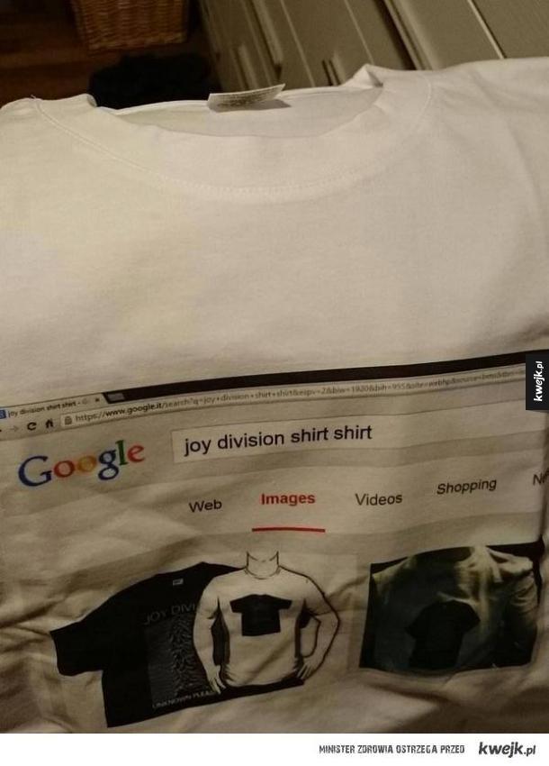 Nowy poziom koszulki z Joy Division