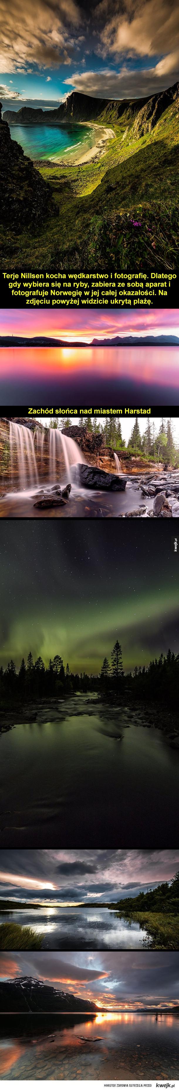 Piękno Norwegii - Terje Nillsen kocha wędkarstwo i fotografię. Dlatego gdy wybiera się na ryby, zabiera ze sobą aparat i fotografuje Norwegię w jej całej okazałości.