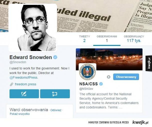 Snowden założył Twittera i trolluje