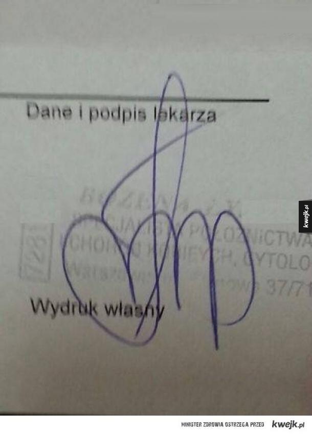 Podpis lekarza