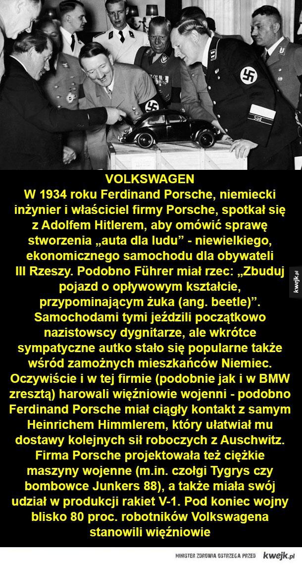 Potężne korporacje współpracujące z nazistami - ford, volkswagen, siemens, dr. oetker, bayer, hugo boss